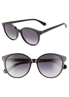kate spade new york eliza 55mm round sunglasses