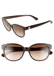 kate spade new york emaleigh 55mm cat eye sunglasses