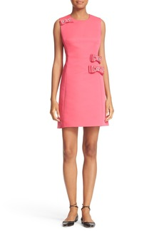 kate spade new york embellished bow faille a-line dress