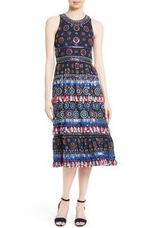 kate spade new york embellished midi dress