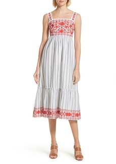 kate spade new york embroidered sundress