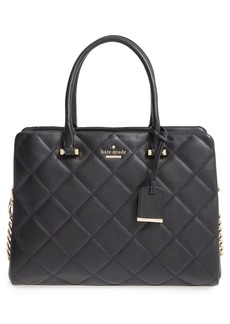 kate spade new york 'emerson place - olivera' quilted leather satchel