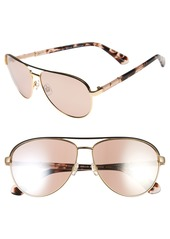 kate spade new york emilyann 59mm aviator sunglasses