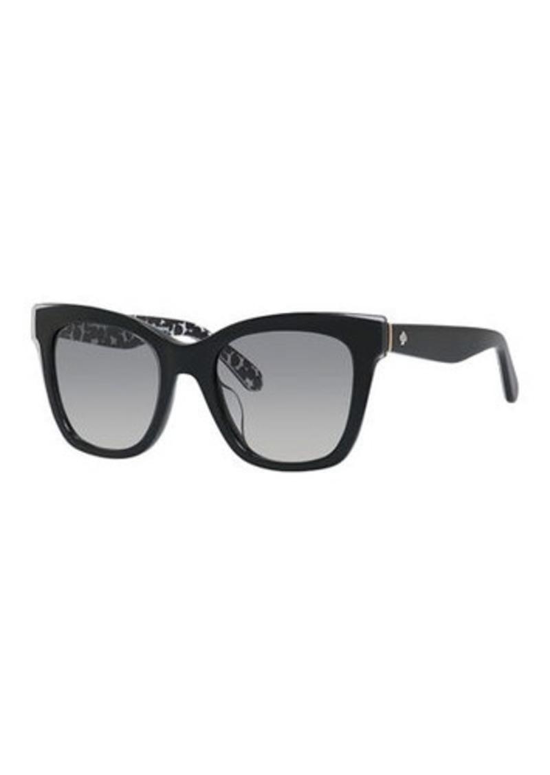 Kate Spade emmylou square polka-dot interior sunglasses