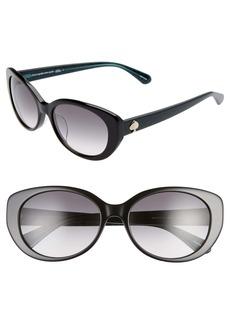 kate spade new york everett 56mm special fit gradient cat eye sunglasses