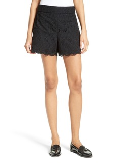 kate spade new york eyelet embroidered shorts