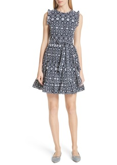 kate spade new york eyelet fit & flare dress