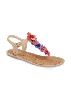kate spade new york fatema floral embellished T-strap sandal (Women)