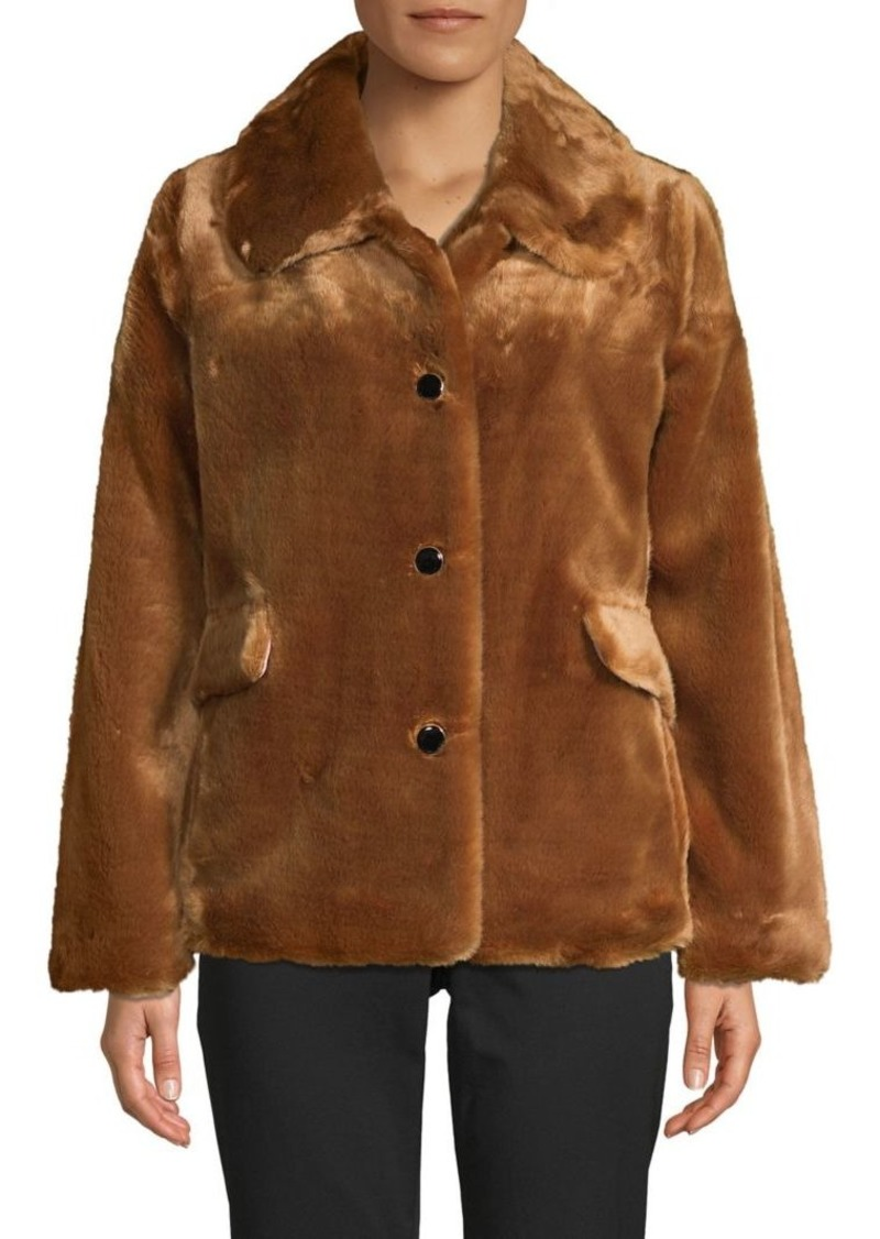 Kate Spade New York Faux Fur Button-Front Jacket