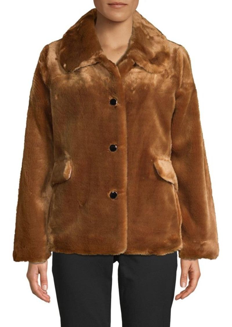 Kate Spade New York Faux Fur Button-Front Jacket