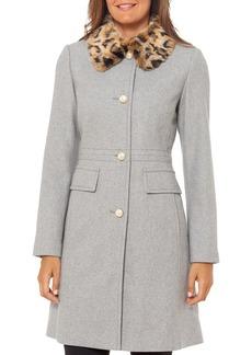 kate spade new york Faux Fur-Collar Coat