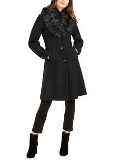 Kate Spade New York Faux-Fur-Trim Coat, Created for Macy's