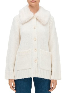 kate spade new york Faux-Fur-Trimmed Cardigan