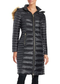 Kate Spade New York Faux Fur-Trimmed Down Coat