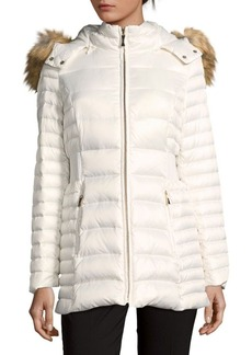 Kate Spade New York Faux Fur Trimmed Down Puffer Coat