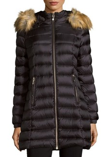 Kate Spade New York Faux Fur-Trimmed Puffer Jacket