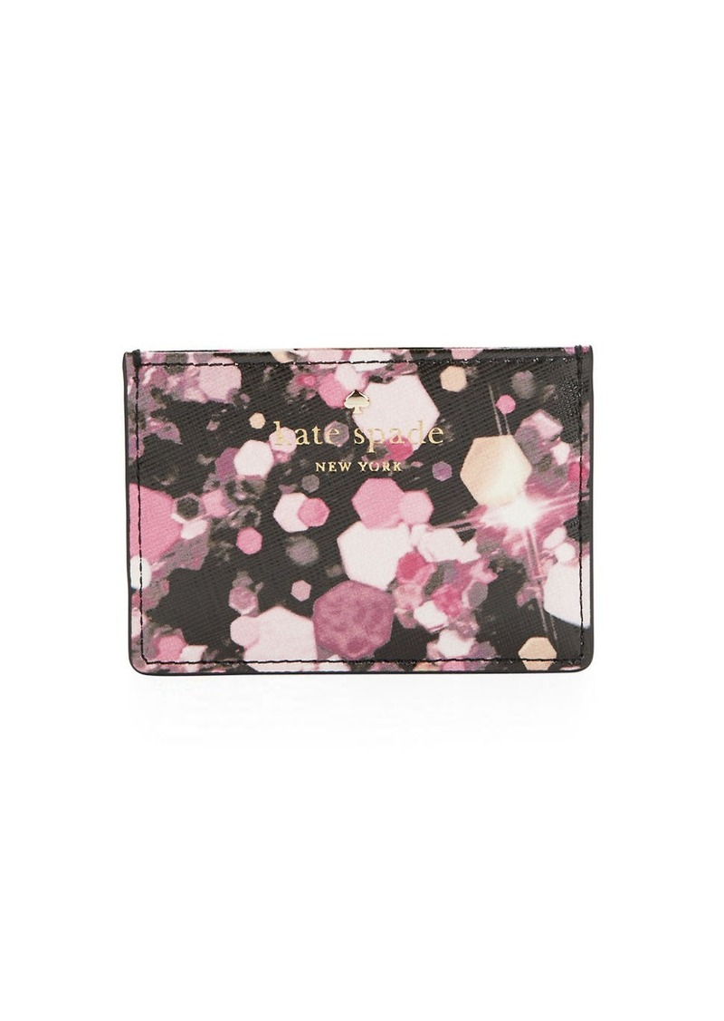 KATE SPADE NEW YORK Faux Leather Printed Card Holder