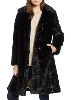 kate spade new york faux mink coat
