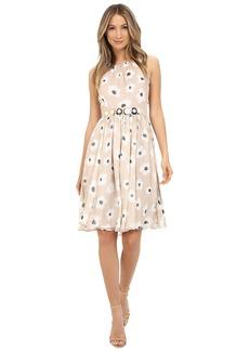Kate Spade New York Faye Floral Belted Chiffon Dress