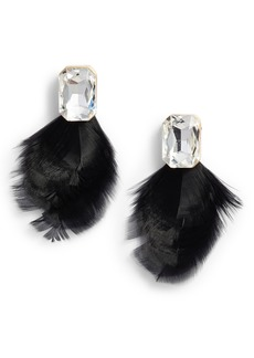 kate spade new york feather drop earrings