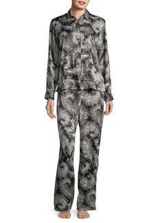 Kate Spade New York Feather Long Sleeve Pajamas