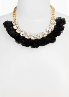 kate spade new york feather statement necklace
