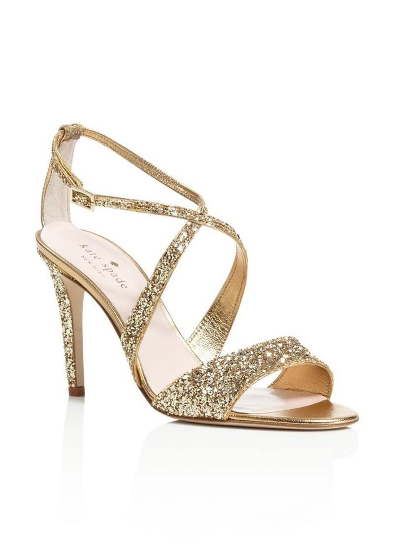 kate spade new york Felicity Glitter Crisscross High Heel Sandals
