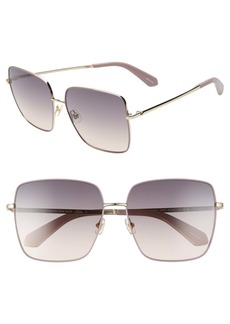 kate spade new york fenton 60mm gradient square sunglasses