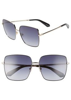 kate spade new york fenton 60mm gradient square sunglasses