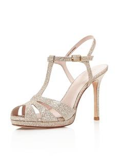kate spade new york Feodora Glitter T Strap High Heel Sandals