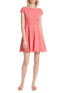 kate spade new york fiorella cutwork hem dress