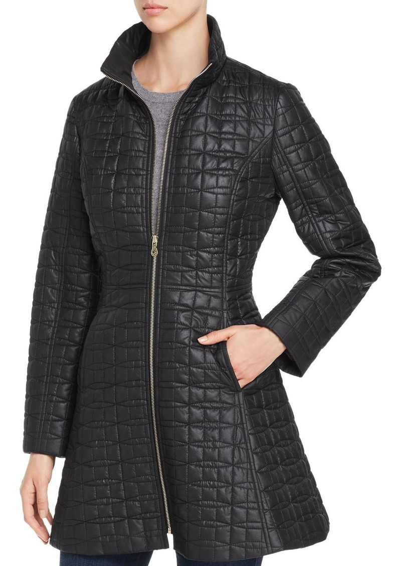 kate spade new york Fit-and-Flare Bow-Quilted Coat