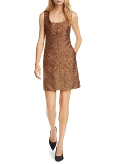 kate spade new york flora leopard jacquard a-line dress