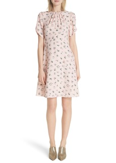 kate spade new york flora tulip sleeve dress