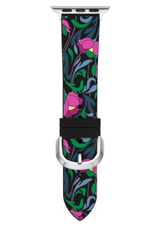 kate spade new york floral Apple Watch® silicone strap