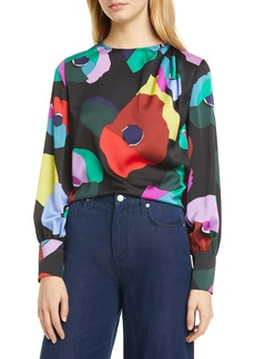 kate spade new york floral collage blouse