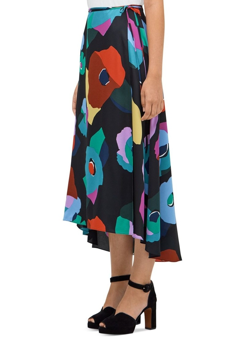 kate spade new york Floral Collage Midi Wrap Skirt