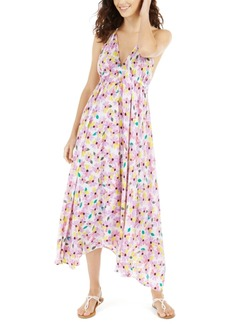 kate spade new york Floral Halter Maxi Swim Cover-Up Dress Women's Swimsuit