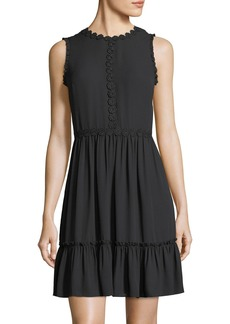 Kate Spade floral lace trim sleeveless mini dress