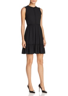 kate spade new york Floral Lace-Trimmed Mini Dress