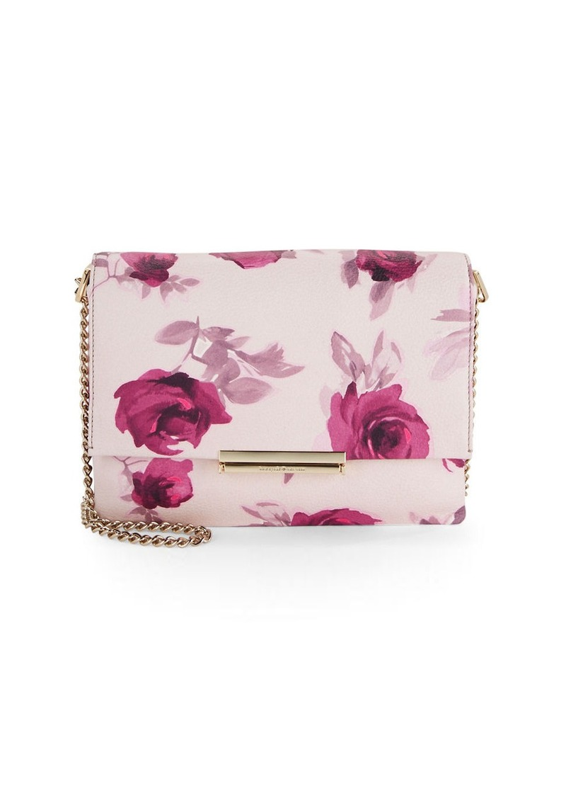 KATE SPADE NEW YORK Floral Pebbled Shoulder Bag