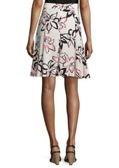 kate spade new york floral-print a-line skirt
