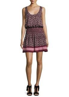 kate spade new york floral-print sleeveless coverup mini dress