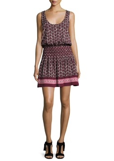 kate spade new york floral-print sleeveless coverup mini dress