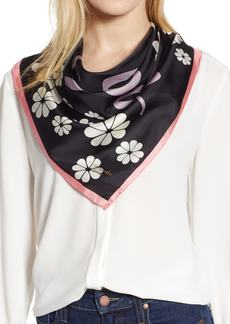 kate spade new york floral silk scarf