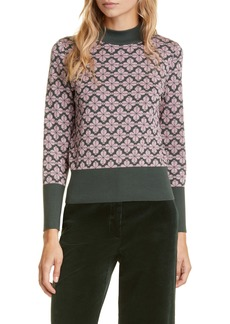 kate spade new york floral spade pima cotton sweater