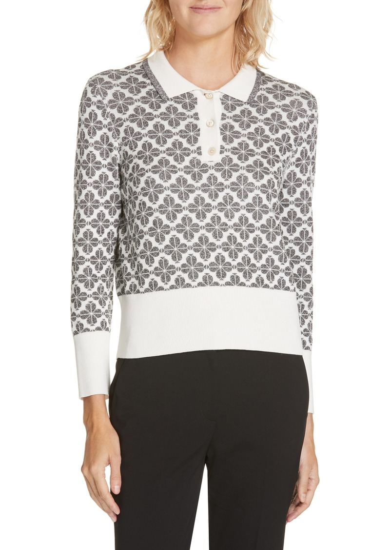 kate spade new york floral spade sweater