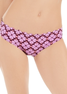kate spade new york Flowerspade Printed Scalloped Hipster Bikini Bottoms Women's Swimsuit