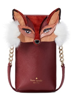 kate spade new york fox iPhone crossbody bag