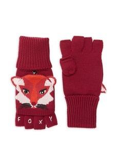 Kate Spade New York Fox Wool Pop-Top Gloves
